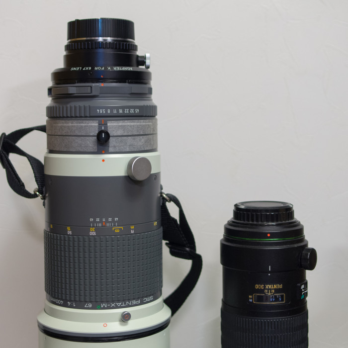M★67 400mmF4 と DA★300㎜F4
